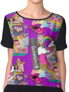 Ultimate 90s girl collage  Chiffon Top