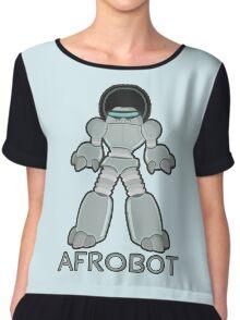 Afrobot- robot with afro Chiffon Top