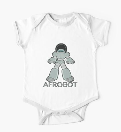 Afrobot- robot with afro One Piece - Short Sleeve