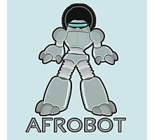 Afrobot- robot with afro Photographic Print