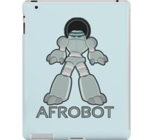 Afrobot- robot with afro iPad Case/Skin