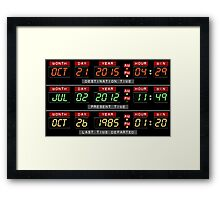 Time Circuits Ready! Framed Print