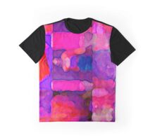 Abstract in Purples Graphic T-Shirt