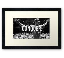 CONQUER (Arnold Poster) Framed Print