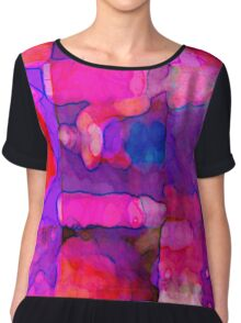 Abstract in Purples Chiffon Top