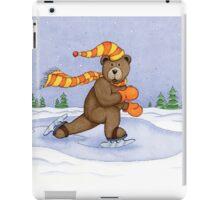 Ice Skating Brown Bear iPad Case/Skin