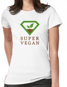 Super Vegan Womens Fitted T-Shirt