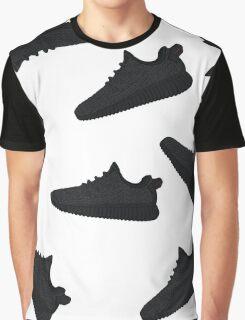 "Yeezy Boost 350 ""Pirate Black"" Wallpaper Graphic T-Shirt"