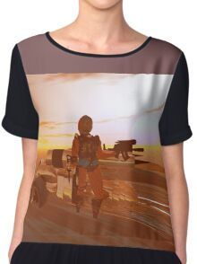 ARES CYBORG IN THE DESERT OF HYPERION,Sci Fi Movie Chiffon Top