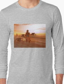 ARES CYBORG IN THE DESERT OF HYPERION,Sci Fi Movie Long Sleeve T-Shirt