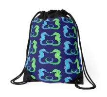 Seepferdchen - Sea Horse  version 2 Drawstring Bag
