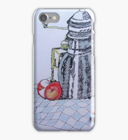 Coffee Pot, Grinder with apple iPhone Case/Skin