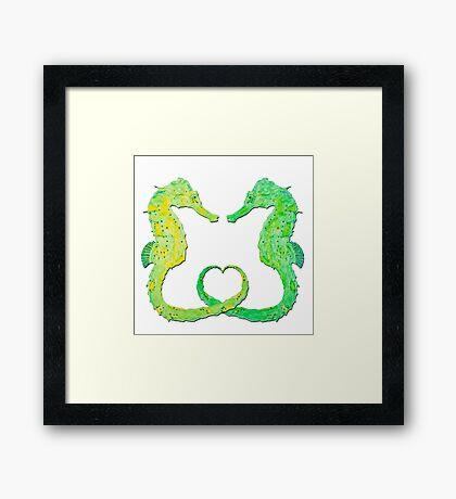 Seepferdchen - Sea Horse  version 3 Framed Print