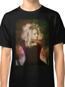 Computer generated Old portrait painting of a woman wearing Gothic style clothes Classic T-Shirt