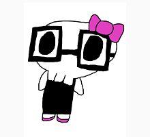 Cute Little Skeleton Bow & Glasses Girl Unisex T-Shirt