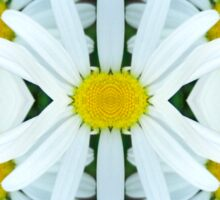 White Daisy WallyMoo Sticker