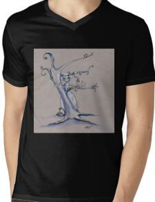 Tree Hugging Mens V-Neck T-Shirt