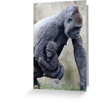 Gorilla Mom and Baby 2 Greeting Card