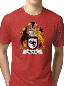 Harper Coat of Arms / Harper Family Crest Tri-blend T-Shirt