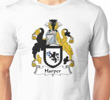 Harper Coat of Arms / Harper Family Crest Unisex T-Shirt