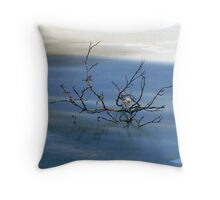 Blue Zen Throw Pillow