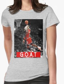 The G.O.A.T Womens Fitted T-Shirt