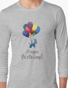 Balloon Animal Birthday Balloons! Long Sleeve T-Shirt