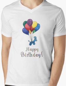 Balloon Animal Birthday Balloons! Mens V-Neck T-Shirt