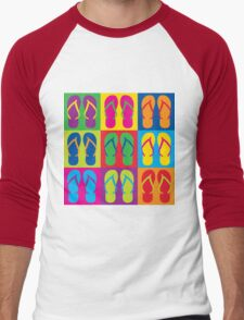 Pop Art Flip Flops Men's Baseball ¾ T-Shirt