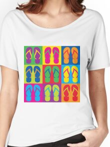 Pop Art Flip Flops Women's Relaxed Fit T-Shirt