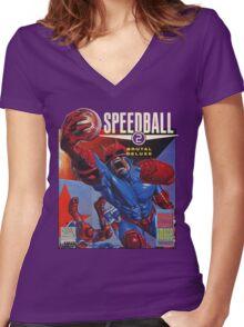 Speedball 2 T-Shirt Women's Fitted V-Neck T-Shirt