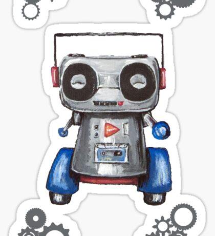 Robot Boomer Sticker
