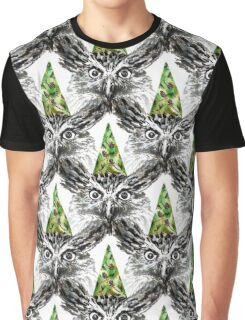 Party Owl Graphic T-Shirt
