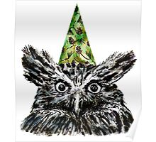 Party Owl Poster