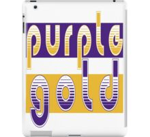 Purple and Gold iPad Case/Skin