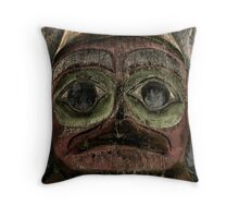 Totem Pole of Prince Rupert Throw Pillow