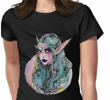 The night elf Womens Fitted T-Shirt