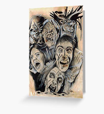Evil Dead Caffeine Shock Greeting Card