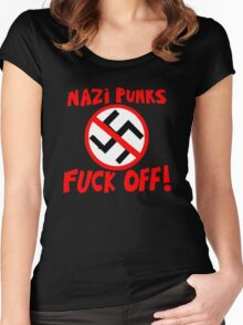 Dead Kennedys - Nazi Punks Fuck Off T-Shirt Women's Fitted Scoop T-Shirt