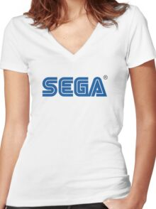 Sega classic arcade and console games Women's Fitted V-Neck T-Shirt