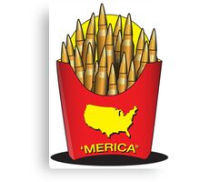 Merica Freedom Fries Canvas Print