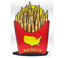 Merica Freedom Fries Poster