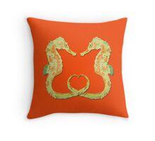 Seepferdchen - Sea Horse  version 8 Throw Pillow