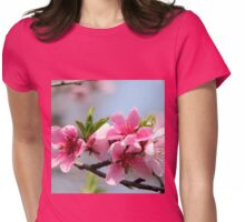 Peach Blossom in Romania  Womens Fitted T-Shirt