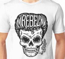 Rockabilly Rebel Skull Unisex T-Shirt