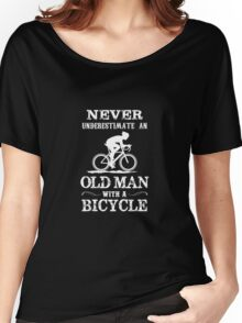 Old Man with a Bycycle Women's Relaxed Fit T-Shirt