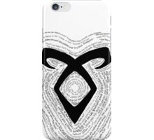 Shadowhunters-QuoteRune iPhone Case/Skin