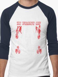 Zombies To Save My Pug Men's Baseball ¾ T-Shirt