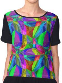 Rainbow neon seamless pattern Chiffon Top