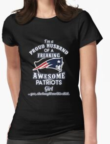 Awesome patriots Girls Womens Fitted T-Shirt